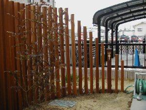 02 ウリンのスリット・フェンスと水栓